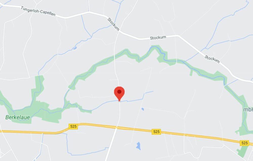 Kartenausschnitt 15km von Haltern