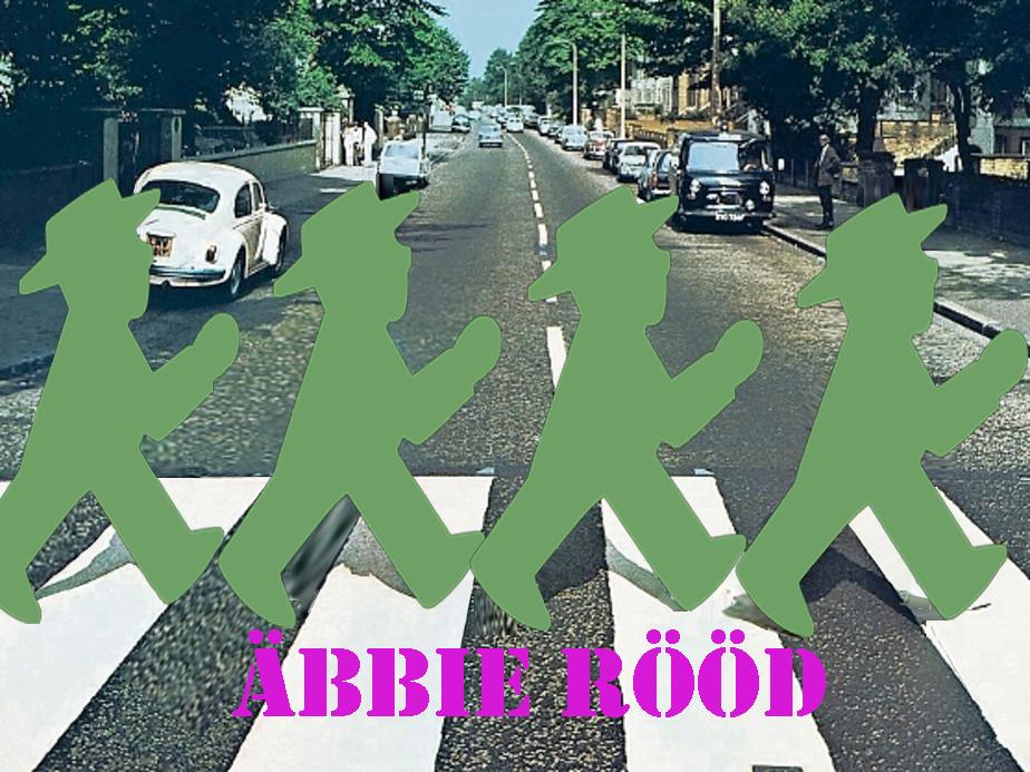 Fotomontage, Ampelmännchen DDR, Abbey Road, Zebrastreifen