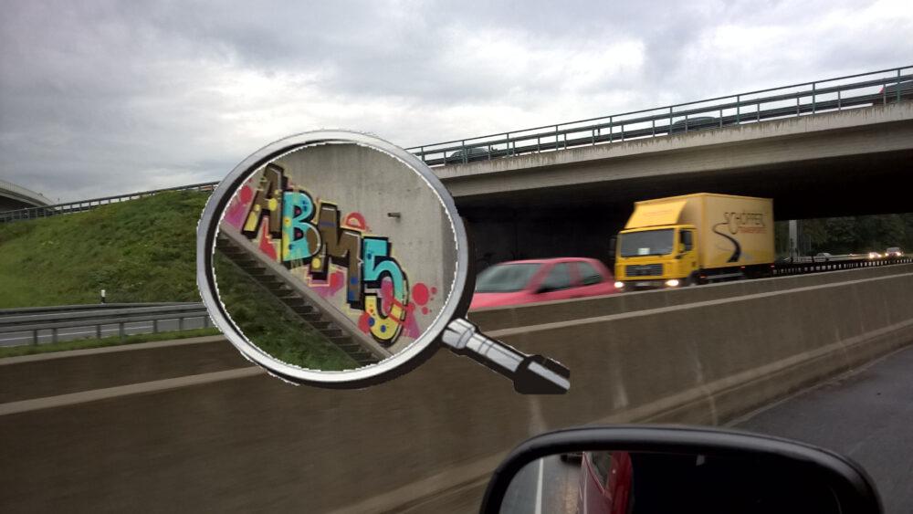 Graffiti Autobahnbrücke Abi 15