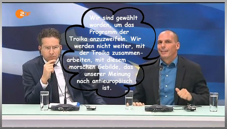 Varoufakis und Dijsselbloem in Athen 1