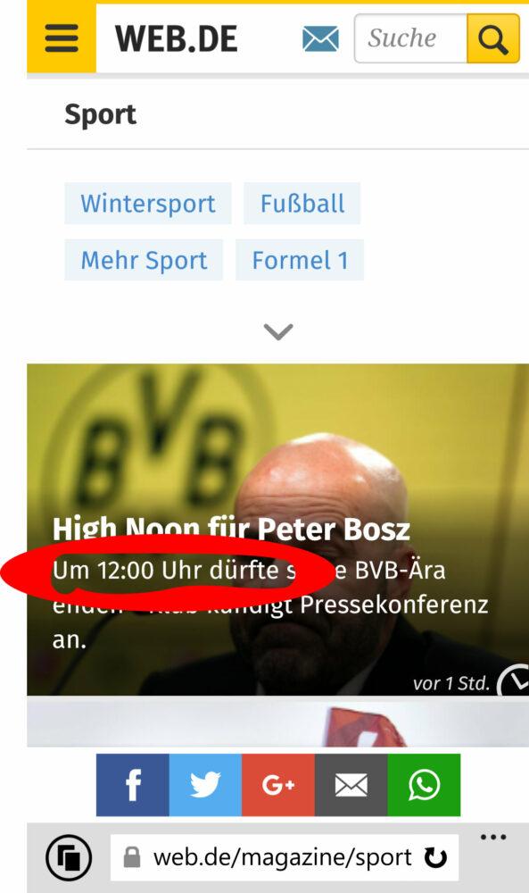 Peter Bosz Vermutung Entlassung