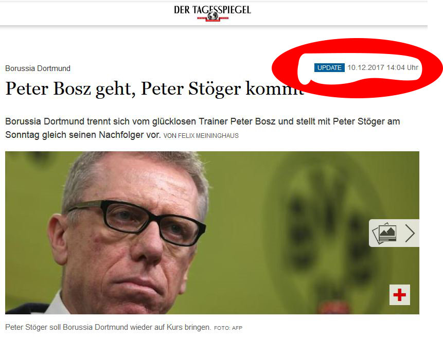 Nachfolger Peter Bosz