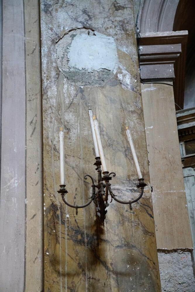 Castellammare di Stabia Basilika Leuchter