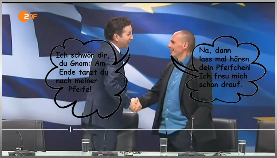 Varoufakis und Dijsselbloem verabschieden sich in Athen