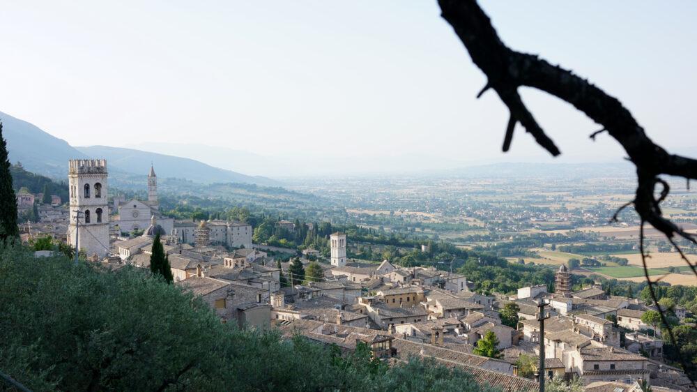 Assisi Von oben