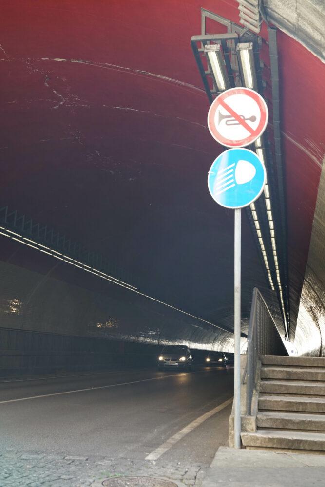 Porto Straßenschild Nicht Hupen