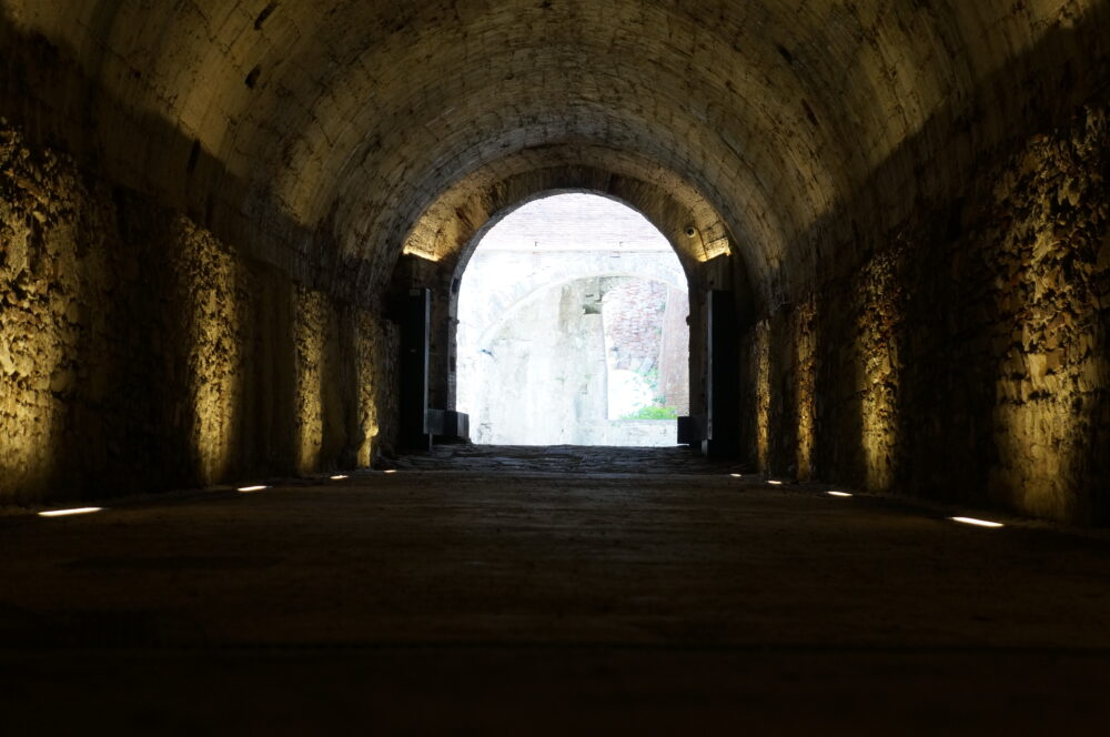 Stadtmauer Lucca Gewölbe