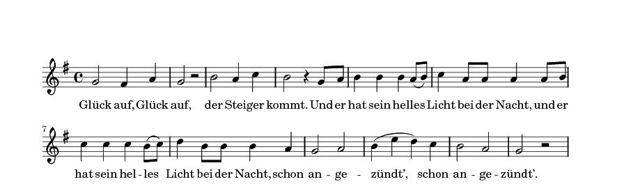 Steigerlied, 1. Strophe
