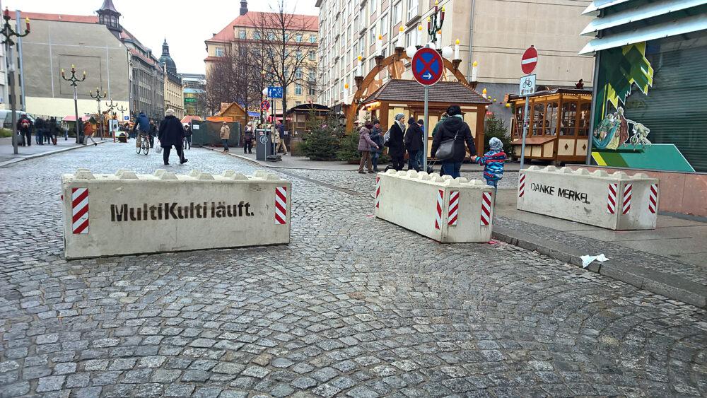 Schutzbetonkübel Weihnachtsmarkt