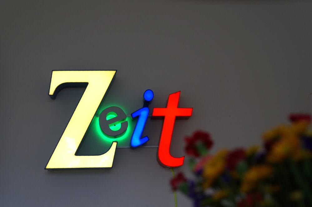 Zeit No-Neon-Lichtobjekt
