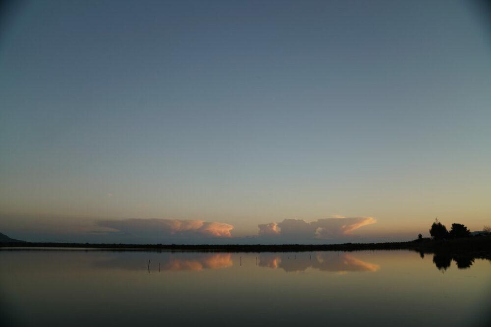 Salina Spiel der Abendwolken