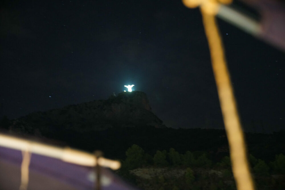 Maratea Jesusstatue auf Berg