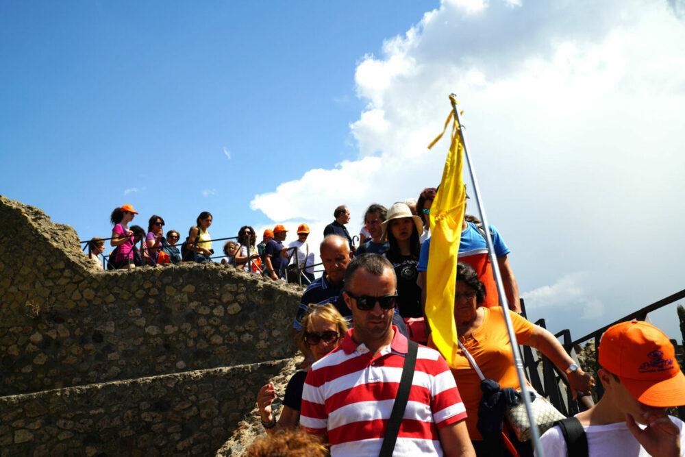 Pompeji Besuchermassen