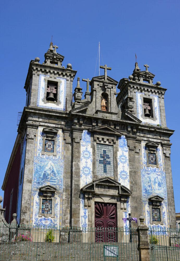 Porto Kirche mit Kachelfassade
