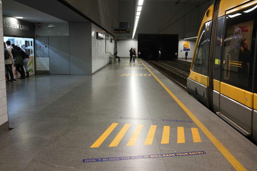 Bahnsteig U-Bahn Porto