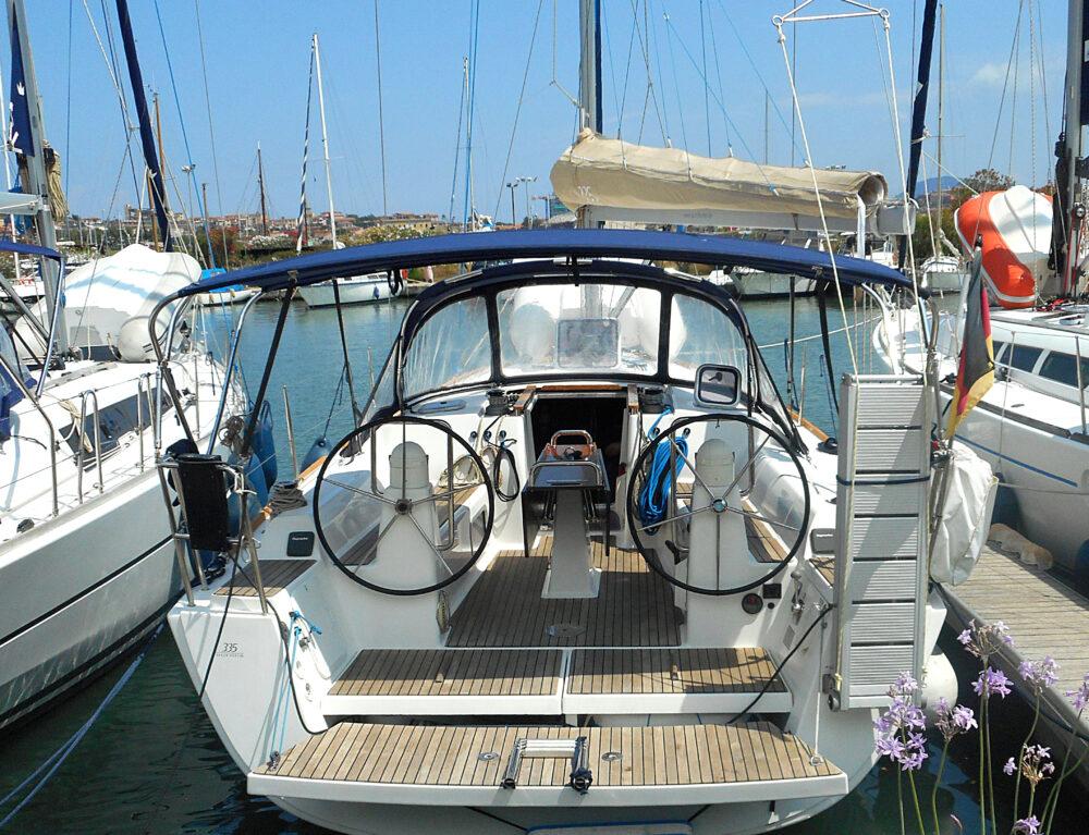 """Erster Blick auf """"unsere"""" Yacht"""