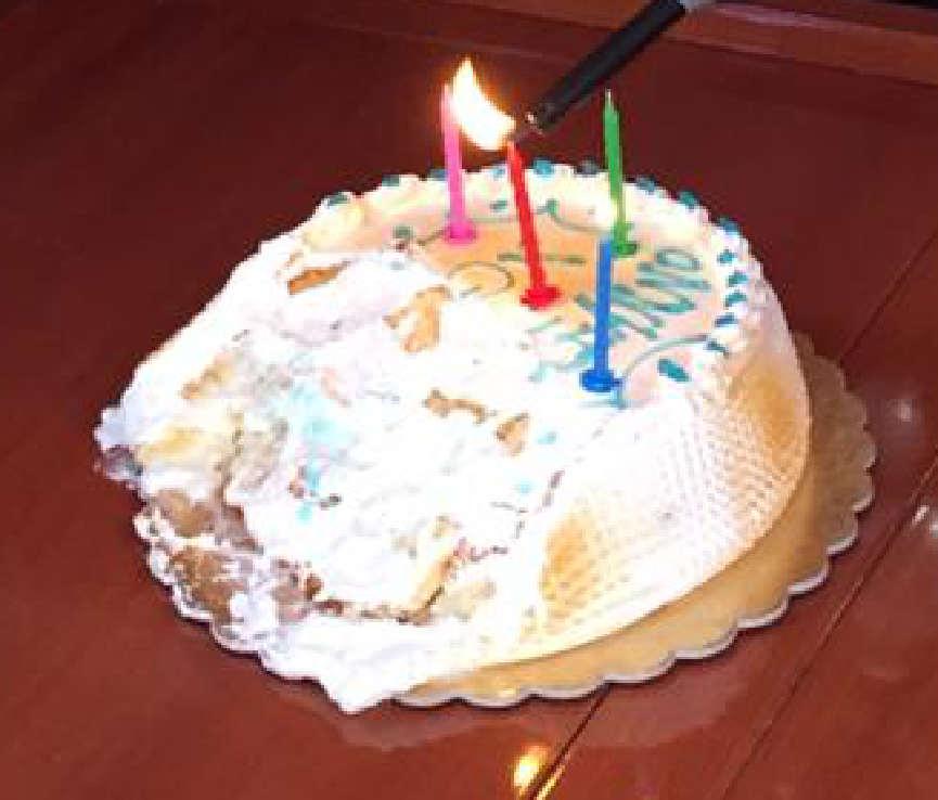 platt gesessene Geburtstagstort