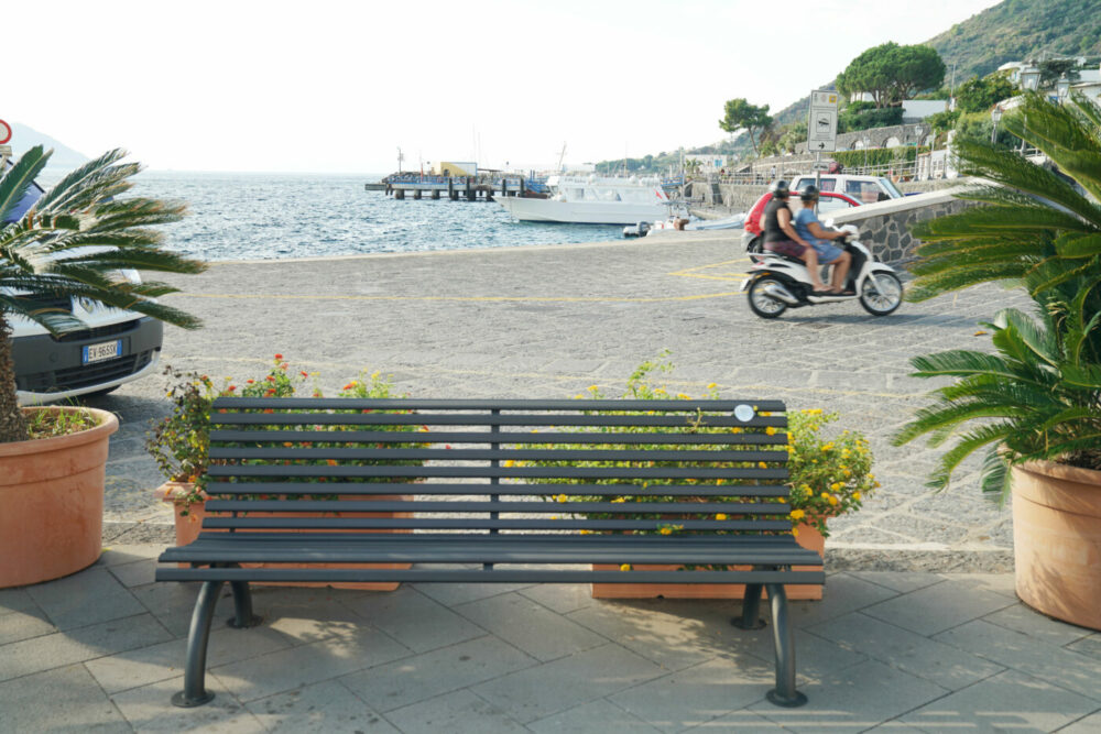 Salina Bank am Hafen