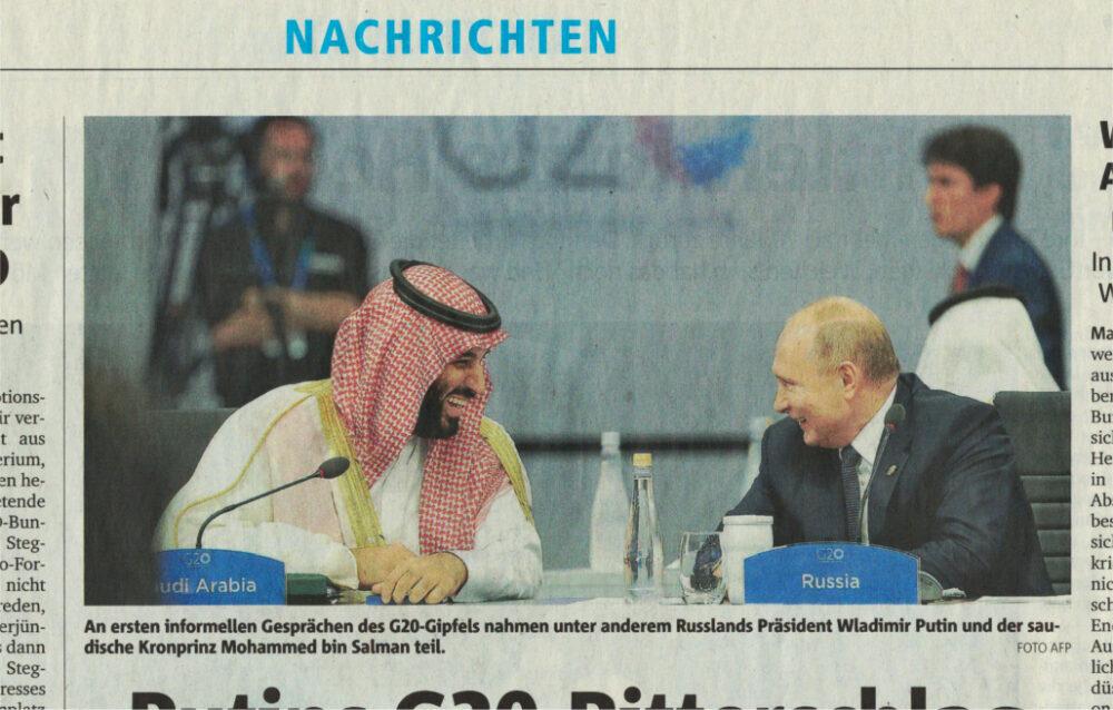 G 20 2018 Salman trifft Putin