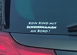 Autoaufkleber Kein Kind