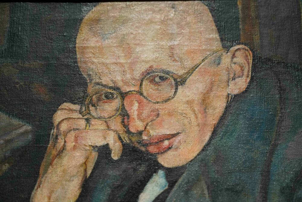 Gemälde Mann am Nachbartisch