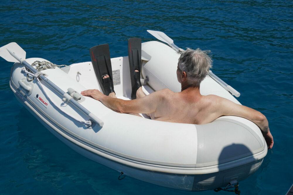 Relaxen im Schlauchboot