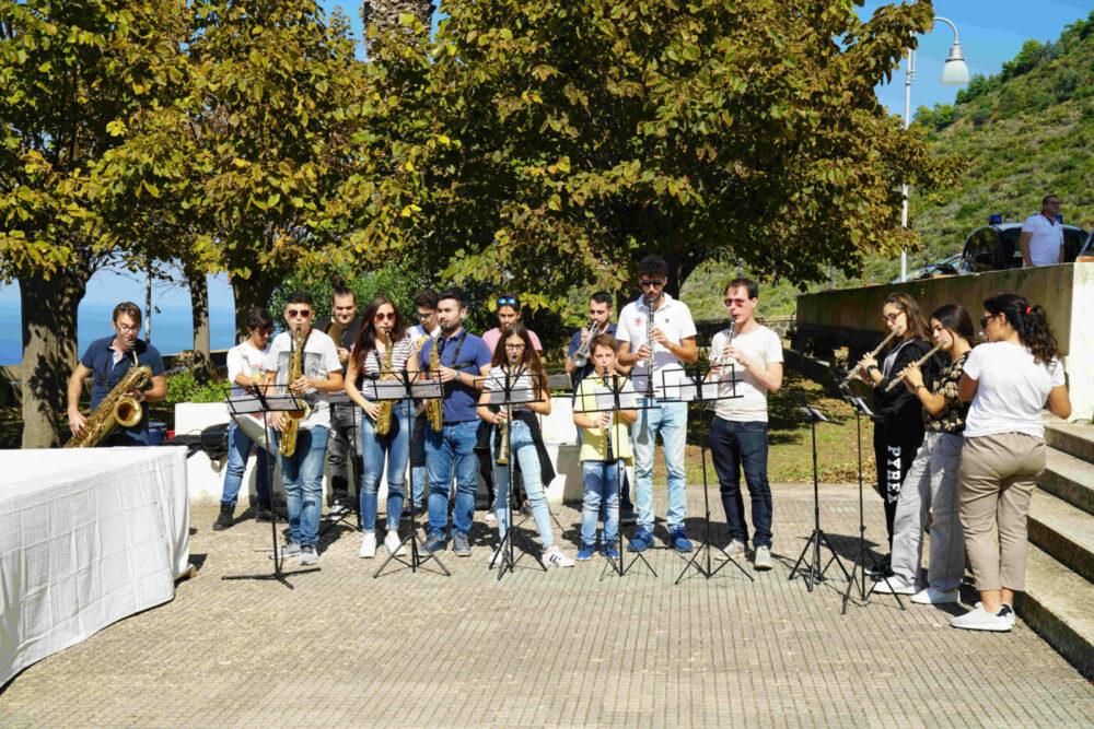 Brassband beim Erntedankfest