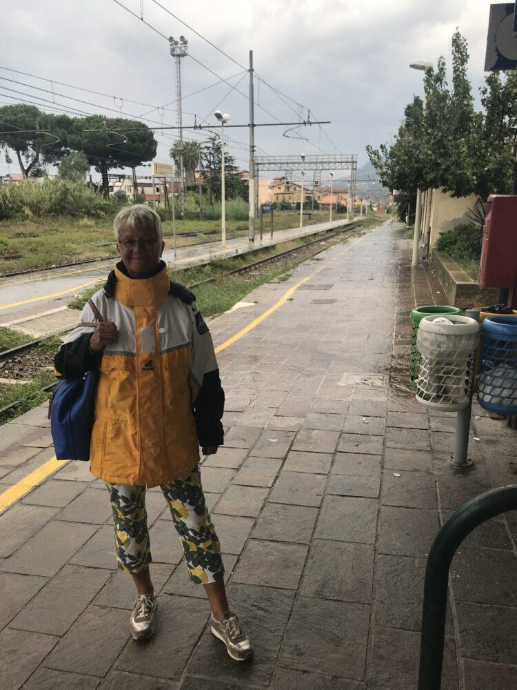 Vibo Valentia Bahnhof im Regen