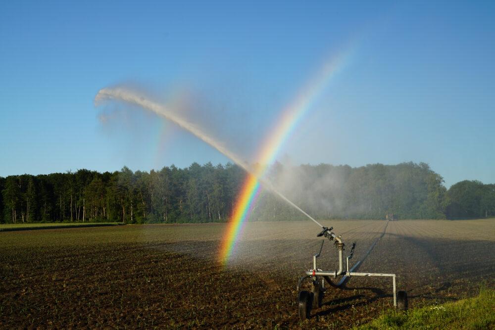 Westmünsterland, Wassersprenger auf Feld