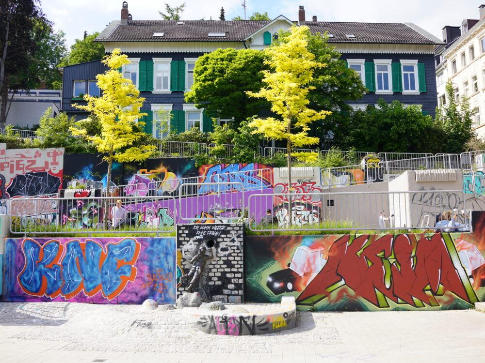 Graffitis am Haus der Jugend, Wuppertal